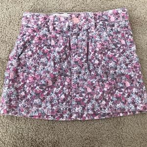 H&M Girl's Floral Mini Skirt